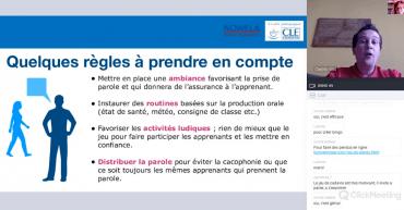 Webinarium: Développer la production orale en classe et en cours en ligne avec la méthode #LaClasse